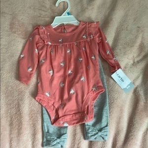 Two piece baby girl outfit!